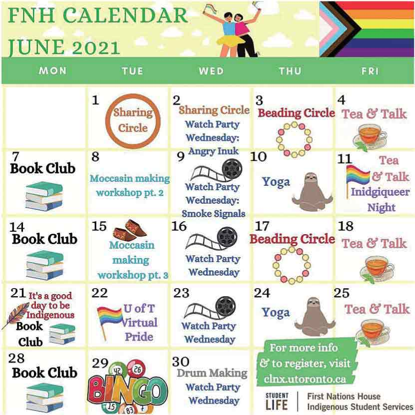First Nations House(FHN)6月のイベントカレンダー