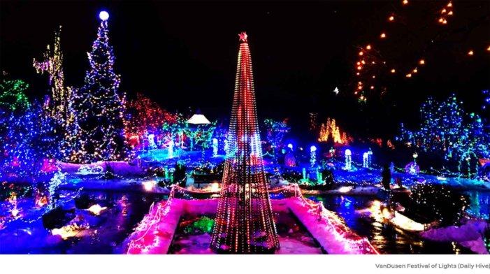 クリスマスツリーライトアップin バンクーバー