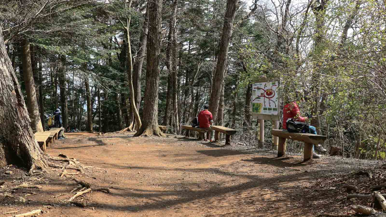 高尾山国定公園―もうすぐ頂上離れて休憩