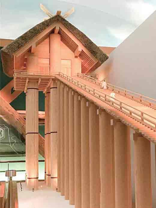 旧神殿模型―宇豆柱は48メートルあったと伝えられる