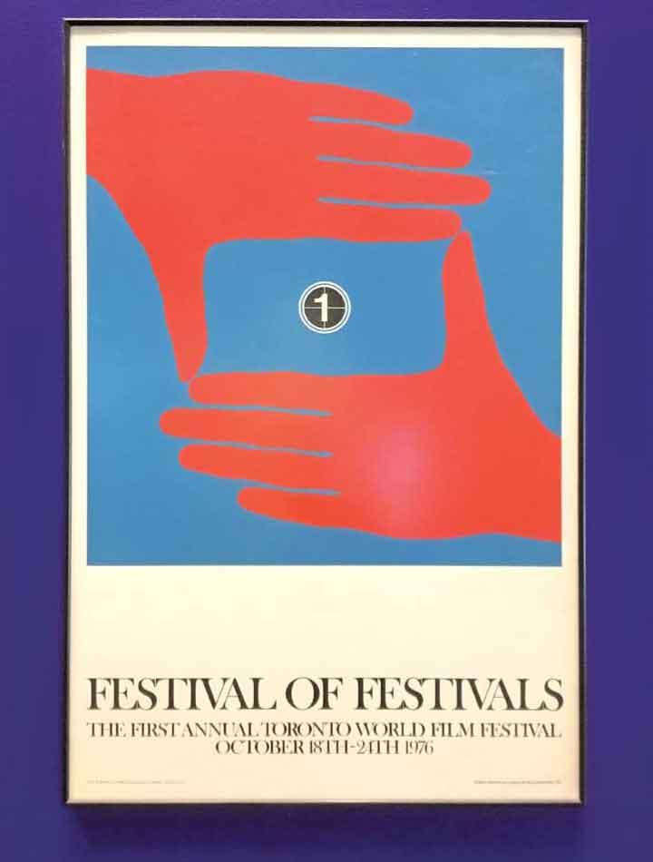 TIFF Bell Lightbox内の1976年のFestival of Festivalsのポスター