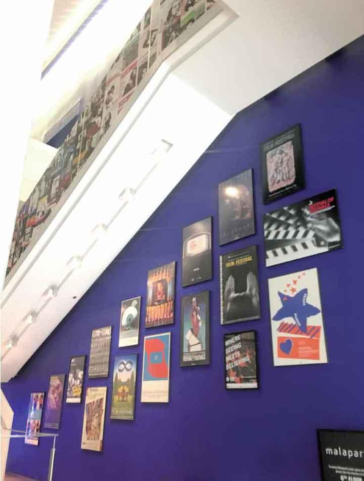 TIFF Bell Lightboxに展示されている歴代の映画祭のポスター