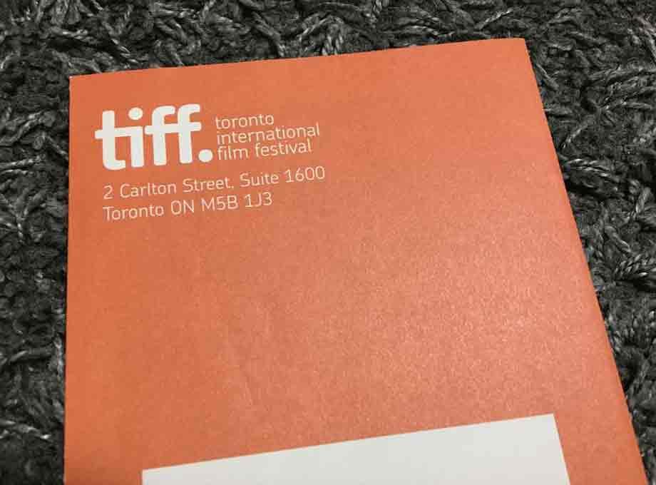 2009年のTIFFリーフレット。TIFF Bell Lightbox開館の前年のため、今とは住所が異なります。