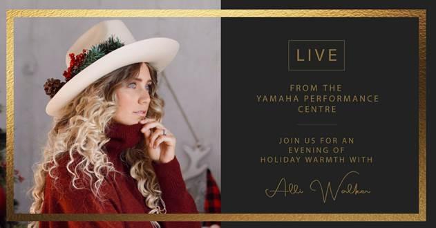 【無料】12月17日 カナダ人アーティスト「Alli Walker」ライブストリーミング | YAMAHA CANADA MUSIC
